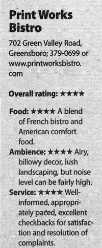 Print Works Bistro Review Snippet