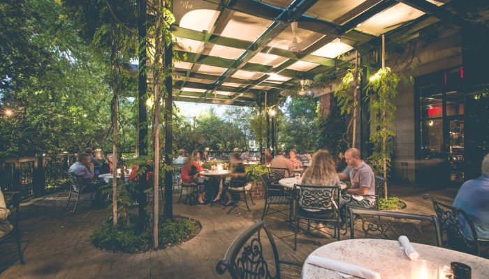 Dine al Fresco in the Courtyard at Green Valley Grill